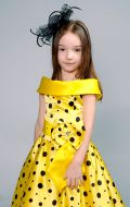Костюм Стильная девчонка желтый в горошек;  Артикул Ст4