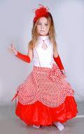 Костюм Стильная девчонка красно-белый; Артикул Ст6
