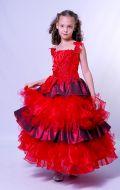 Бальное платье красное;  Артикул К3