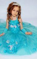 Бальное платье лазурное;  Артикул СМ77
