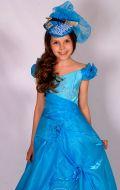 Бальное платье лазурное