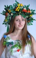 Украинский стилизованный костюм (платье лён); Артикул У12