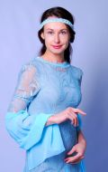 Костюм Чикаго (голубое гипюровое платье); Артикул Рт15
