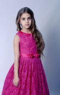 Бальное платье фуксия гипюр;  Артикул Б51