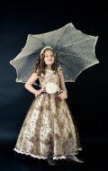 Бальное платье золотое вышивка; Артикул Пд97