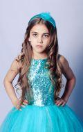 Бальное платье ярко-бирюзовое;  Артикул Ф1/Ф5