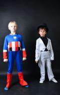 Костюм Капитан Америка и Джентльмен в белом; Артикул КА1 и Фс3