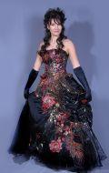 Платье Бальное черное с вышивкой; Артикул Пд13
