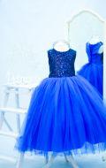 Бальное платье ярко-синее;  Артикул Н19