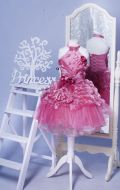 Бальное платье пурпурно-розовое с розами; Артикул М30
