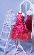 Бальное платье оттенка Скарлетт;  Артикул М20