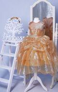 Бальное платье золотистое блеск;  Артикул СМ105