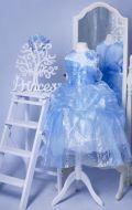 Бальное платье голубое органза;  Артикул СМ99