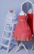Бальное платье коралловое ампир;  Артикул СМ67