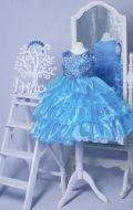 Бальное платье лазурное;  Артикул Мв31