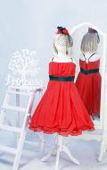 Бальное платье красное со шляпкой; Артикул СМ56