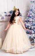 Бальное платье золотистое расшитое;  Артикул Б58
