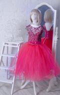 Бальное платье фуксия фатин; Артикул СМ124
