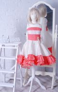 Бальное платье бежево-коралловое; Артикул Ст46