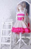 Бальное платье бежево-розовое; Артикул Ст45