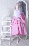 Бальное платье розовое парча жатка; Артикул Б59