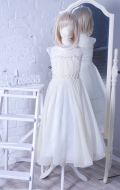 Бальное платье молочный ампир шифон; Артикул СМ6