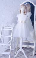 Бальное платье кремовое фатин бант; Артикул М44