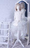 Бальное платье молочное рыбка; Артикул СМ135