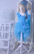 Бальное платье голубое рыбка; Артикул СМ129