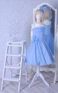 Бальное платье голубое шифон со стразами; Артикул СМ134