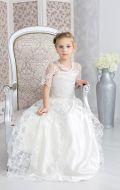 Бальное платье молочное гипюр NEW; Артикул Б62